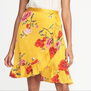 Yellow floral skirt from Old Navy!